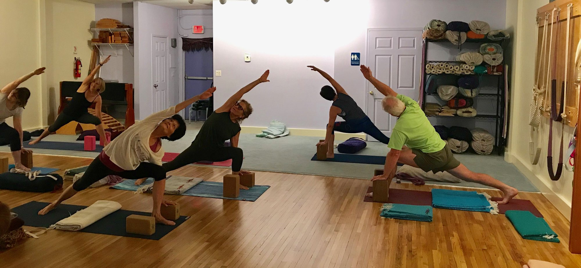 Group Parsvakonasana